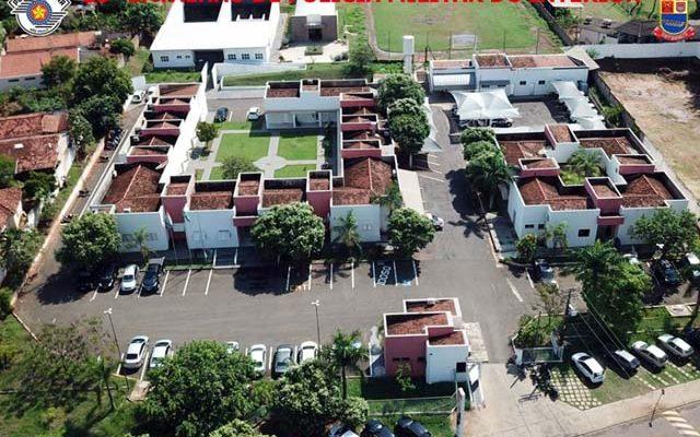 Sede do 28º BPM/I será palco da vacinação para profissionais de segurança de 12 cidades. Foto: Divulgação