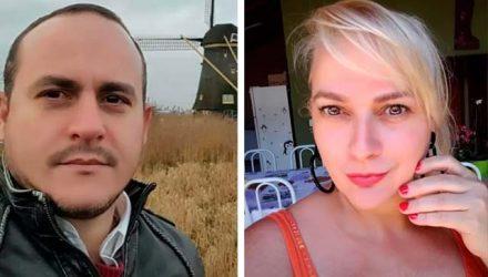 O comerciante Gustavo Bortoleti, 44 anos, e a esteticista Alessandra Bortoleti, 45, morreram no mesmo dia, em consequência do covid. Foto: Divulgação