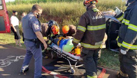 Comerciante foi socorrido pelos bombeiros até a UPA, medicado e permanecido em observação. Foto: MANOEL MESSIAS/Agência