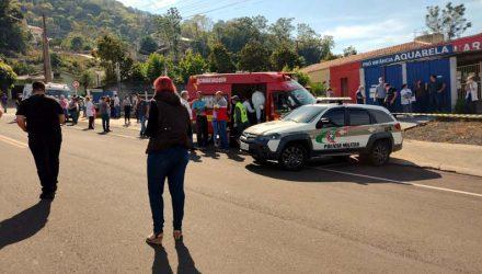 Jovem invade escola e mata crianças no Oeste de SC — Foto: Simone Fernandes/Arquivo Pessoal