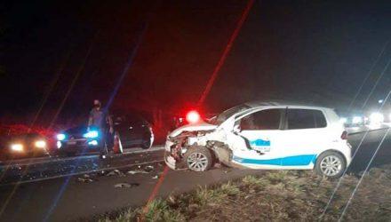 Somente o motorista ficou ferido em mais um acidente envolvendo ambulância do município. Foto: DIVULGAÇÃO