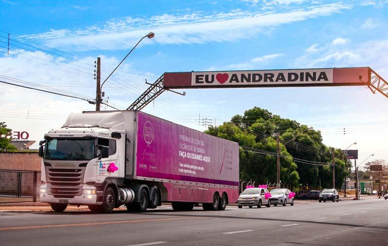 Carreta do Amor fica em Andradina até o mês de agosto de 2021. Foto: Secom/Prefeitura