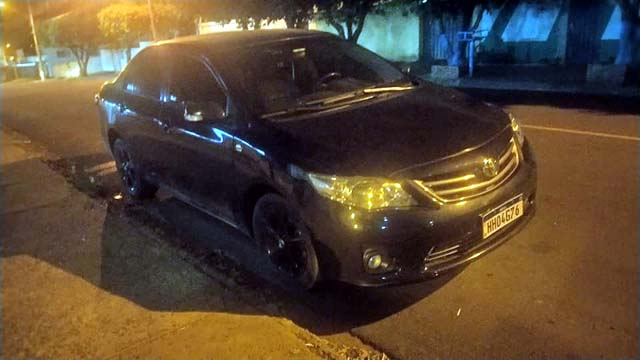 Toyota Corolla foi apreendido pela Polícia Civil. Foto: MANOEL MESSIAS/Agência