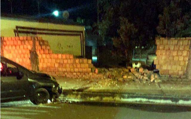 Empresário destruiu muro de residência no bairro Santa Cecília. Foto: PM/Divulgação