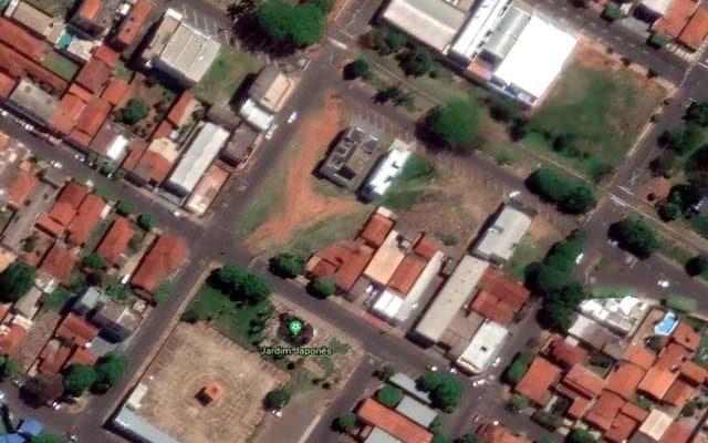Prisão por embriagues do advogado aconteceu na área central de Andradina. Foto: Google Earth/Reprodução