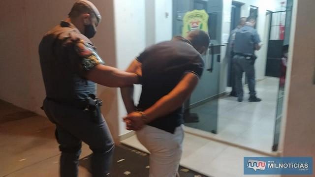 """""""Xandi"""" foi flagrado com quase 1 Kg de crack em Guaraçaí. Se batizada (adicionada outras drogas), poderia render até 5 Kg. Foto? MANOEL MESSIAS/Agência"""