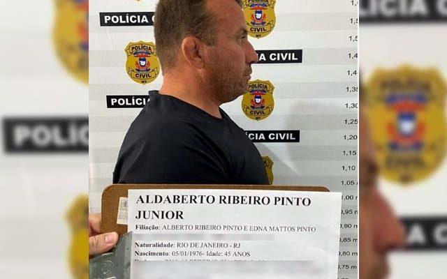 Alberto Ribeiro Pinto Junior, de 45 anos, foi preso e confessou que pilotava helicóptero que caiu com 300 kg de droga em Mato Grosso — Foto: Divulgação