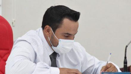 """Vereador Helton Rodrigo Prando, o """"Coxinha"""", presidente da Câmara de Andradina. Foto: Assessoria Legislativa"""