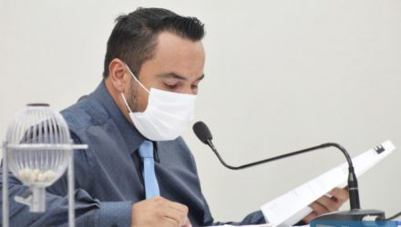 """Presidente do legislativo andradinense, Helton Prando, o """"Coxinha"""". Foto: Assessoria Legislativa"""