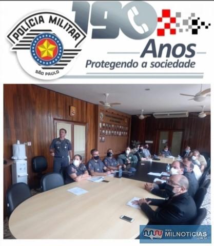 Reunião serviu para aprimorar ações de combate ao crime nos municípios de abrangência de atuação do CPI 10. Foto: Divulgação