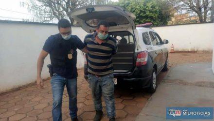 Serviços gerais S. M. S., de 38 anos, foi preso acusado de tentativa de estupro contra a filha de 18. Foto: MANOEL MESSIAS/Agência