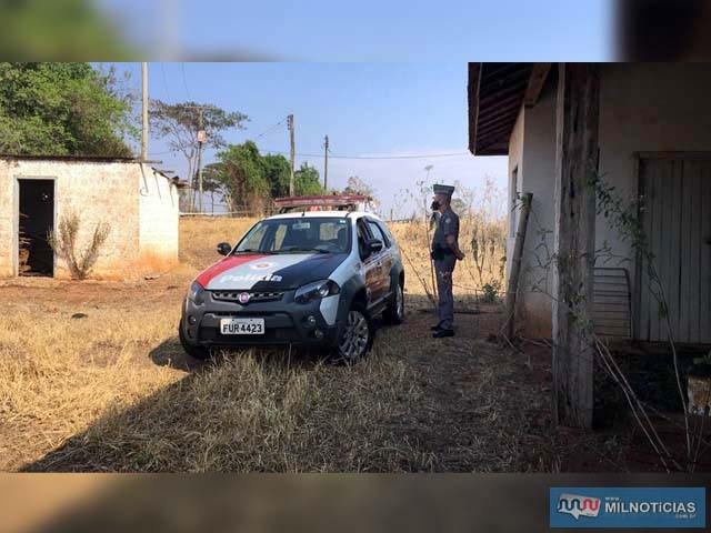 Polícia Militar preservou o local para o trabalho da perícia e a retirada do corpo por uma empresa funerária. Foto: Divulgação