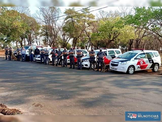 Operação conjunta PM/PM prendeu cinco pessoas e apreendeu drogas. Foto: Divulgação/PM