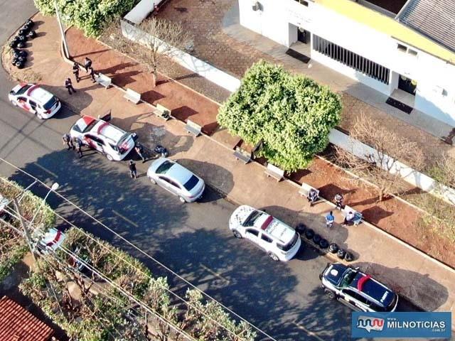 Operação conjunta contou com a utilização de aeronave não tripulada (drone). Foto: DIVULGAÇÃO/PM