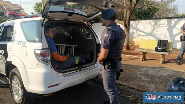J. A. R. D., 28 anos, residente no bairro Benfica, foi preso em virtude da regressão de regime de sua pena por tráfico de drogas.  Foto: MANOEL MESSIAS/Agência