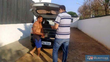 Saqueiro foi preso com base na Lei Maria da Penha. Foto: MANOEL MESSIAS/Agência