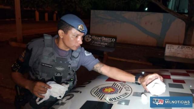 Prisão do acusado foi efetuada pela equipe do sargento PM Fagundes. Foto: MANOEL MESSIAS/Agência