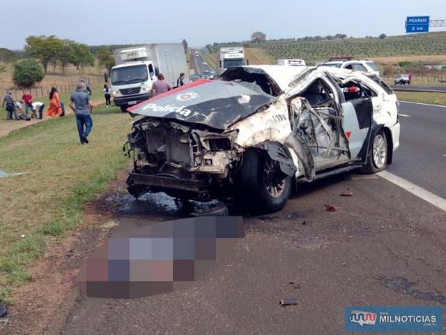Capotamento com a viatura militar aconteceu sábado, 09, na rodovia Marechal Rondon. Foto: Divulgação