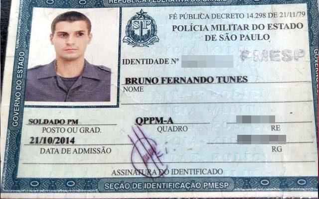 Soldado PM Tunes teve morte cerebral constatada. Foto: Arquivo