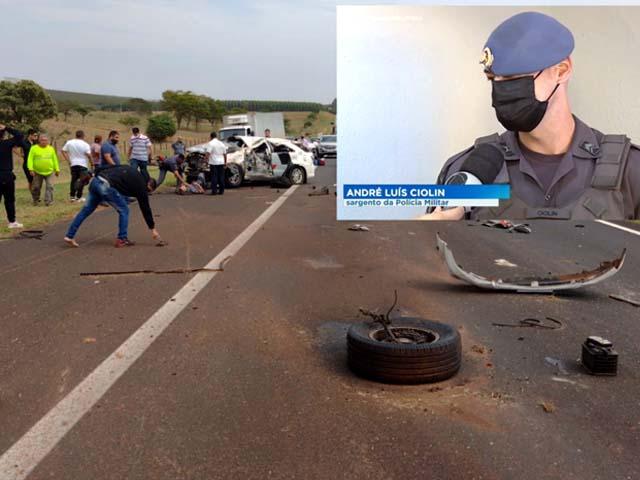Sargento Ciolin morreu no local do acidente. Foto: Divulgação