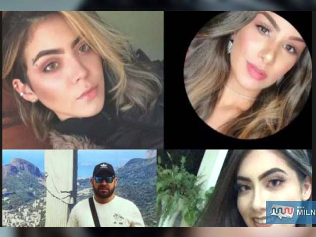 As são Kaline Reinoso, 21, Haylee Carolina Acevedo Yunis, 21, Osmar Vicente Alvares Crance, 32, e outra estudante, Rhannye Jamilly. Foto: Divulgação