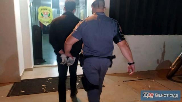 Acusado foi indiciado por roubo (art. 157) e recolhido à cadeia de Pereira Barreto. Foto: MANOEL MESSIAS/Agência