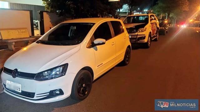 Jovem utilizou seu automóvel VW Fox para ir até a casa da vítima e fugiria nele após o roubo, sendo impedido pela PM. Foto: MANOEL MESSIAS/Agência